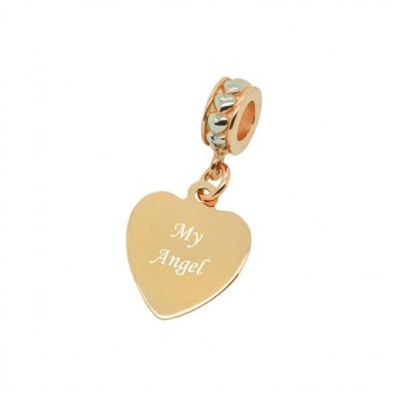 My Angel, Rose Gold Memorial Charm